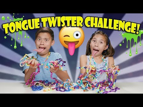 Thumbnail: TANGLE TONGUE TWISTER CHALLENGE!!! Loser gets SLIMED!