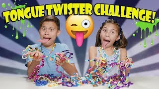 TANGLE TONGUE TWISTER CHALLENGE!!! Loser gets SLIMED! thumbnail