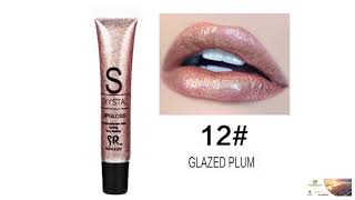 Glitter Lip Gloss Cosmetics Nutritious Shimmer Liquid Lipstick FREE SHIPPING!