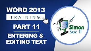 Word 2013 for Beginners Part 11:  Entering and Editing Text in a Word 2013 Document