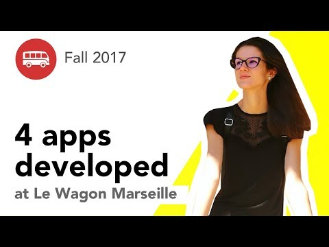 4 apps developed at Le Wagon Marseille - Batch #89