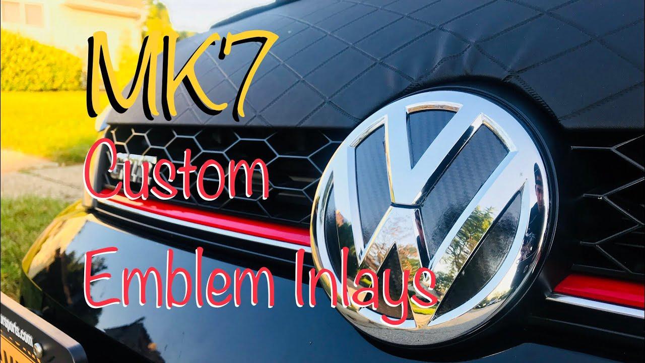 Custom emblem inlays for mk7 gti