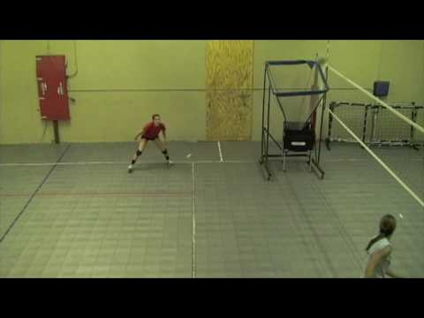 Danielle LIndahl Volleyball LIbero Skills Video