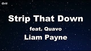 Download Strip That Down ft. Quavo - Liam Payne Karaoke 【With Guide Melody】 Instrumental MP3 song and Music Video