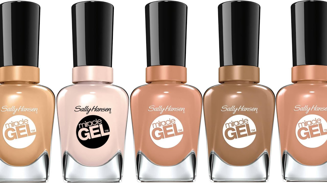 Flawless Nudes Nail Colors Miracle Gel Collection Sally Hansen