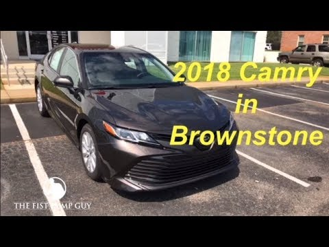 2018 Camry Le In Brownstone With Ash Interior Facebook Live With