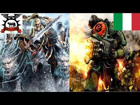 Warhammer40k Battle Report [ITA]: Salamanders (Space Marine) Vs Space Wolves (Space Marine)