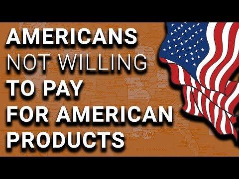 Americans Want American Stuff, But Not Willing to Pay for It
