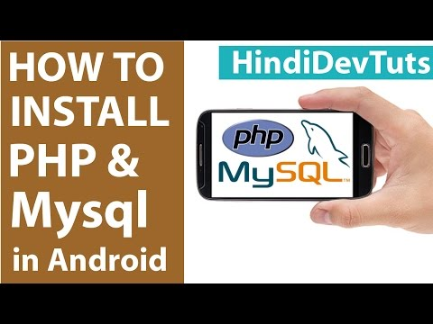 How to install php mysql server in android mobile