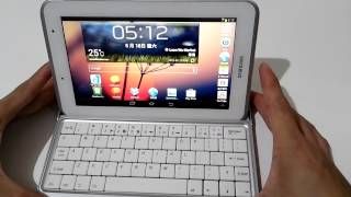 samsung galaxy tab 2 tab2 7 0 p3100 android wireless bluetooth keyboard demonstration