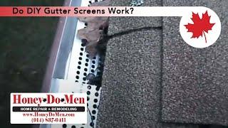 DIY Gutter Screens
