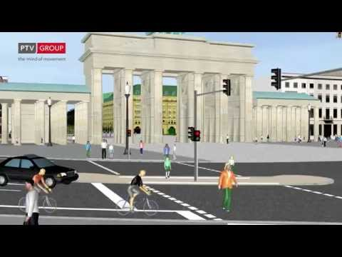PTV Vissim and Viswalk: Traffic around Brandenburger Tor
