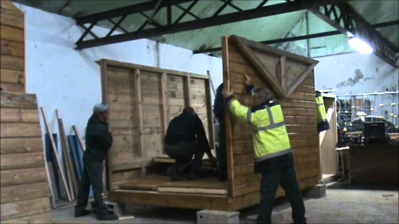 Construction de chalets de no l par l 39 association rivages propres youtube - Construction de chalet ...