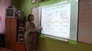 Фрагмент  урока  физики   в  11  классе