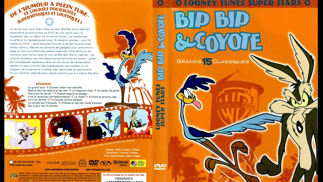 Marques De Couches The Road Runner Show Intro Générique Bip Bip Et Coyote Looney Tunes