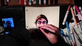 Time-lapse Drawing of Daniel Arnold