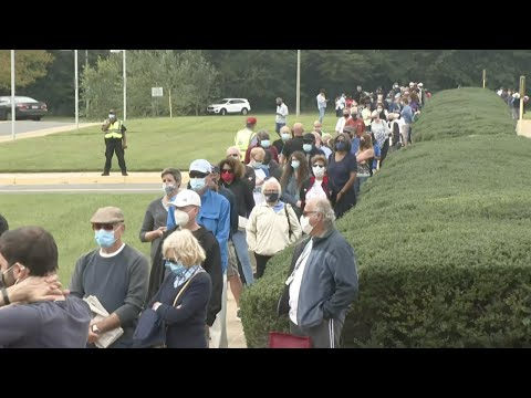 Long Lines In Virginia, US As Early Presidential Election Voting Begins