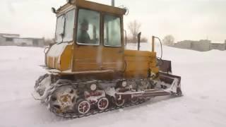 """Soviet dozer tractor PTZ DT-75T """"Kazachstan"""""""