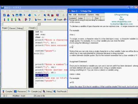 C Programming Lesson 5 - scanf, printf