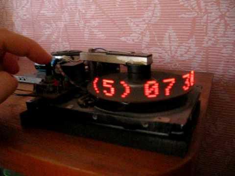 Часы из старого жесткого диска - Видео