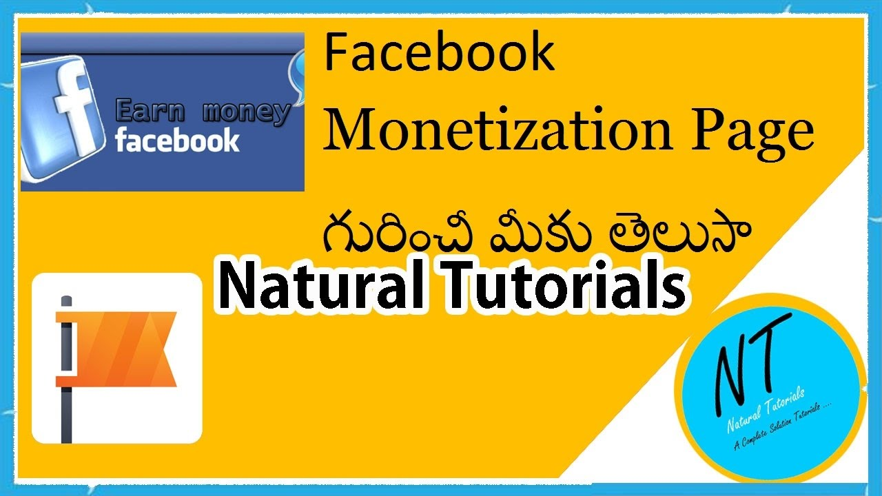 Facebook Monetization The Pages Manager App In Telugu Natural Tutorials