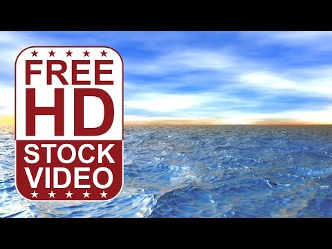 FREE HD video backgrounds – 3D animated ocean waves - fly over