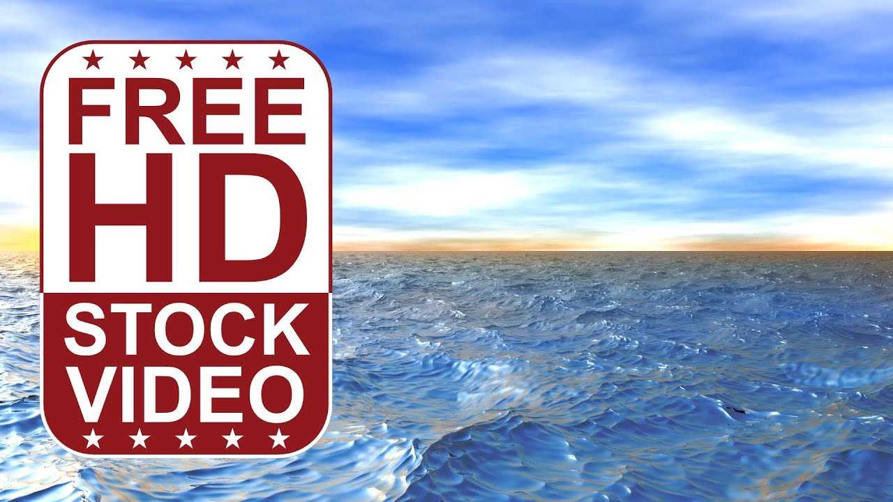 Free Stock Videos – 3D animated ocean waves - fly over ...