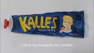How to draw Kalles Kaviar (swedish Kaviar)