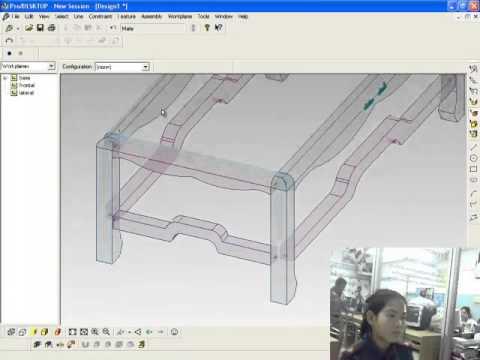 การใช้โปรแกรม ProDESKTOP สร้างชิ้นงานประกอบโต๊ะหมู่ตัวใหญ่