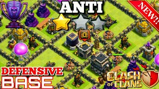 TH 9 ANTI 2 STAR FARMING AND TROPHY BASE 2018 WITH REPLAYS [DRAGS FAILED]  -  CLASH OF CLANS
