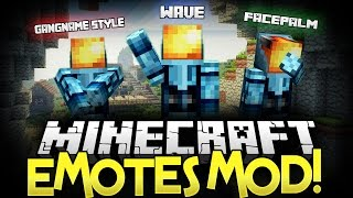 Minecraft Mod | EMOTES MOD • (Gangnam Style, Wave, Exorcist) - Minecraft Mod Showcase