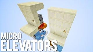 Minecraft: 3 Tiny Piston Elevators!