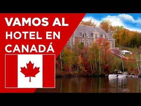 Hotel y paisaje otoñal - Conoce Canadá