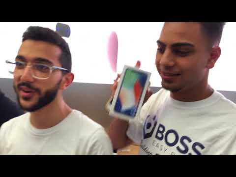 World first Apple Store unbox! iPhone X launch Sydney Australia 3 Nov 2017