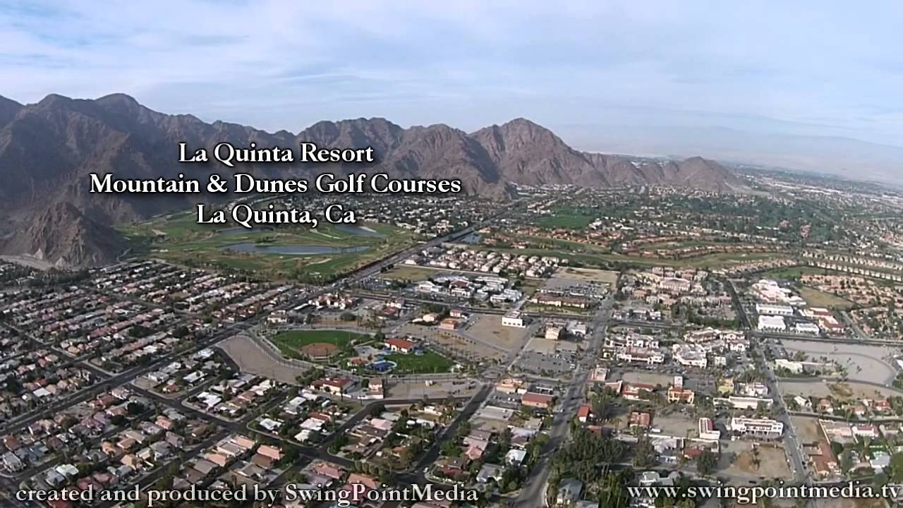 Coachella valley aerial drone footage 59 secs golf courses of la