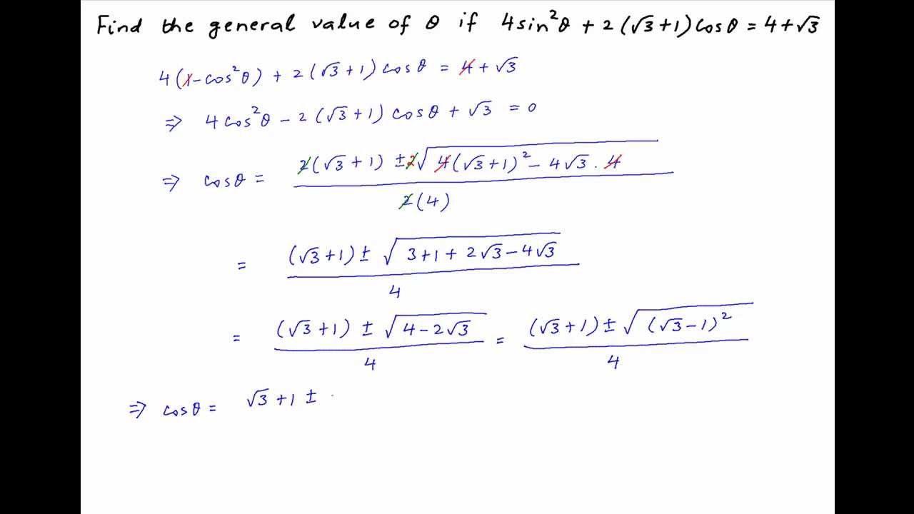 how to find the general solution of a differential equation