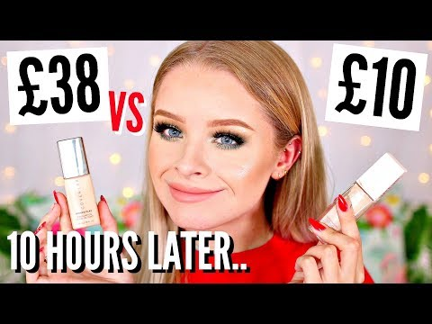 £38 FOUNDATION VS £9.99 FOUNDATION.. 10 HOUR WEAR TEST, WHO WINS?! | sophdoesnails