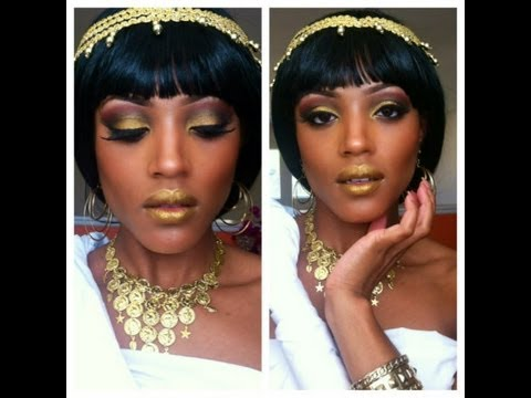 Ancient Goddess Halloween Makeup Tutorial - YouTube