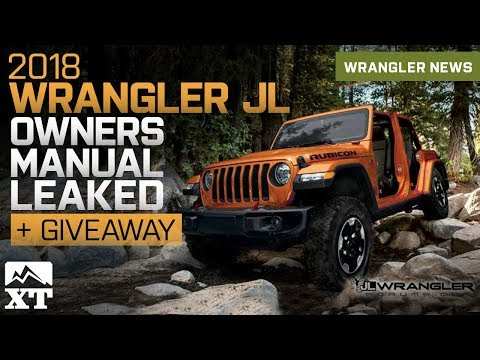 2018 Jeep Wrangler JL Owners Manual & Guide Leaked