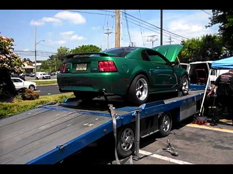 Electric Green Mustang With Comp Cam Stage 1 262 S On Dyno No Dynotune You