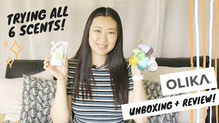 OLIKA Unboxing and Review   Trying All 6 Scents of Olika   Olika Hand Sanitizer Review