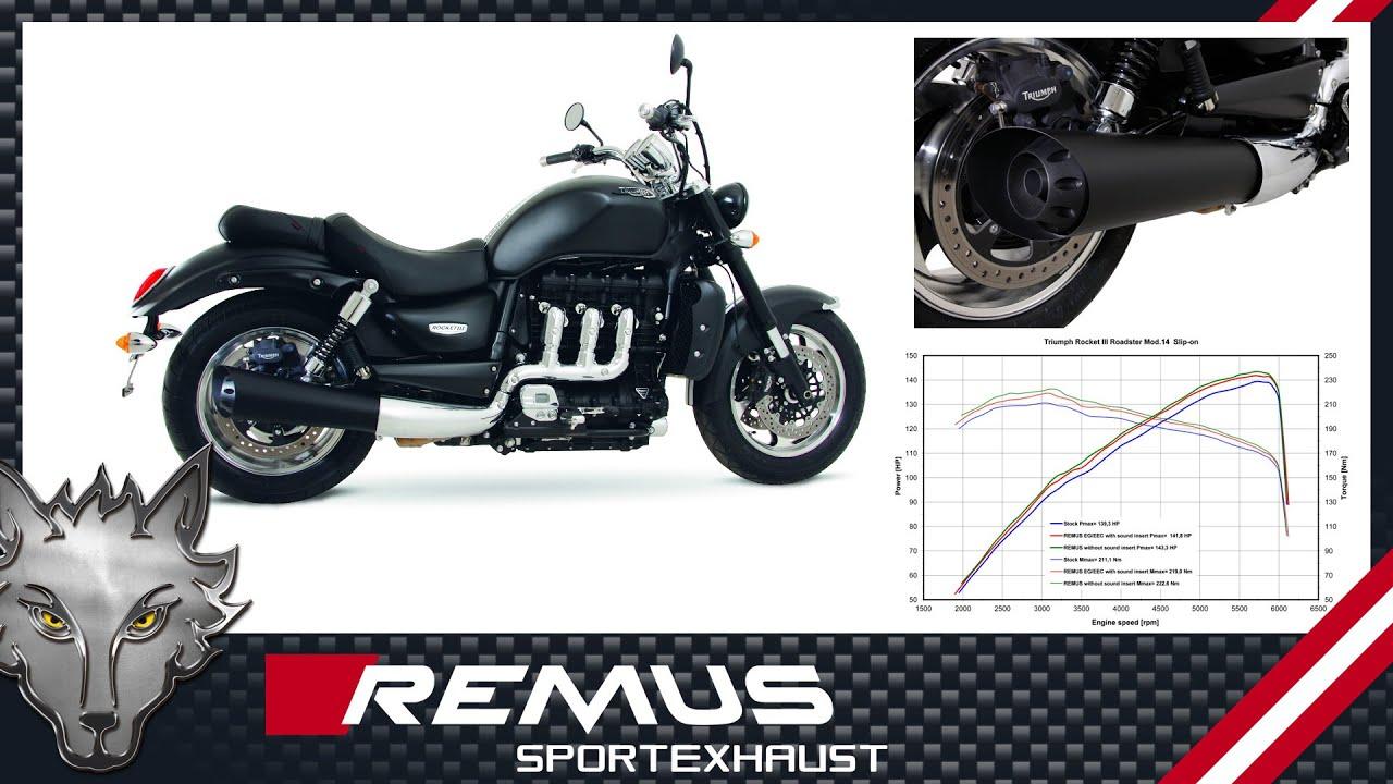 triumph rocket iii roadster mod. 2014 with remus retro sport