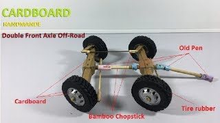 Double Axle Off Road How to make RC Heavy Truck Front Axle Off Road From Cardboard