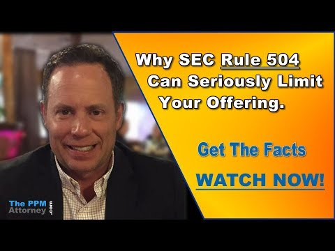SEC Rule 504 - Why Can't I Use It?