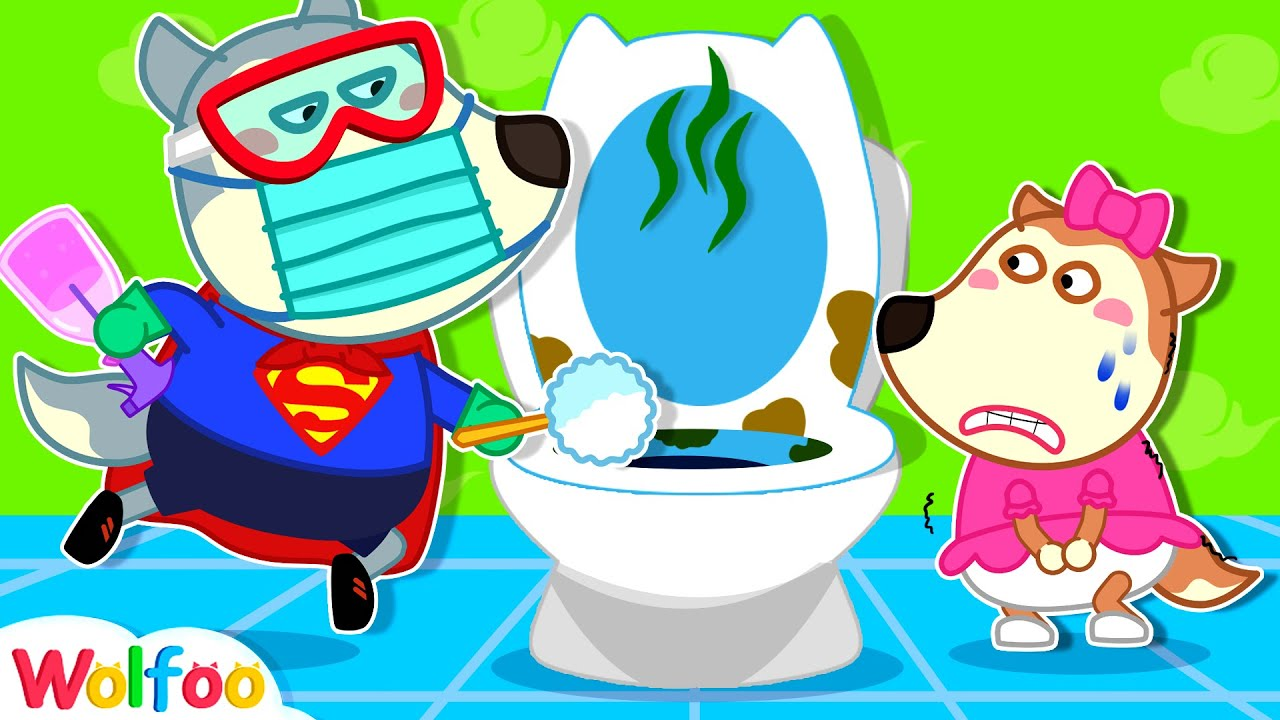 Superman Wolfoo Flushes out Bad Germs - Potty Training | Wolfoo Family Kids Cartoon