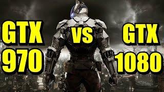 Batman Arkham Knight GTX 970 OC vs GTX 1080 OC | 1080p & 1440p Maxed Out | FRAME-RATE TEST