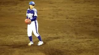 大阪ゴールドビリケーンズ VS 神戸9クルーズ 8回裏(打者5番碩野) ※球...