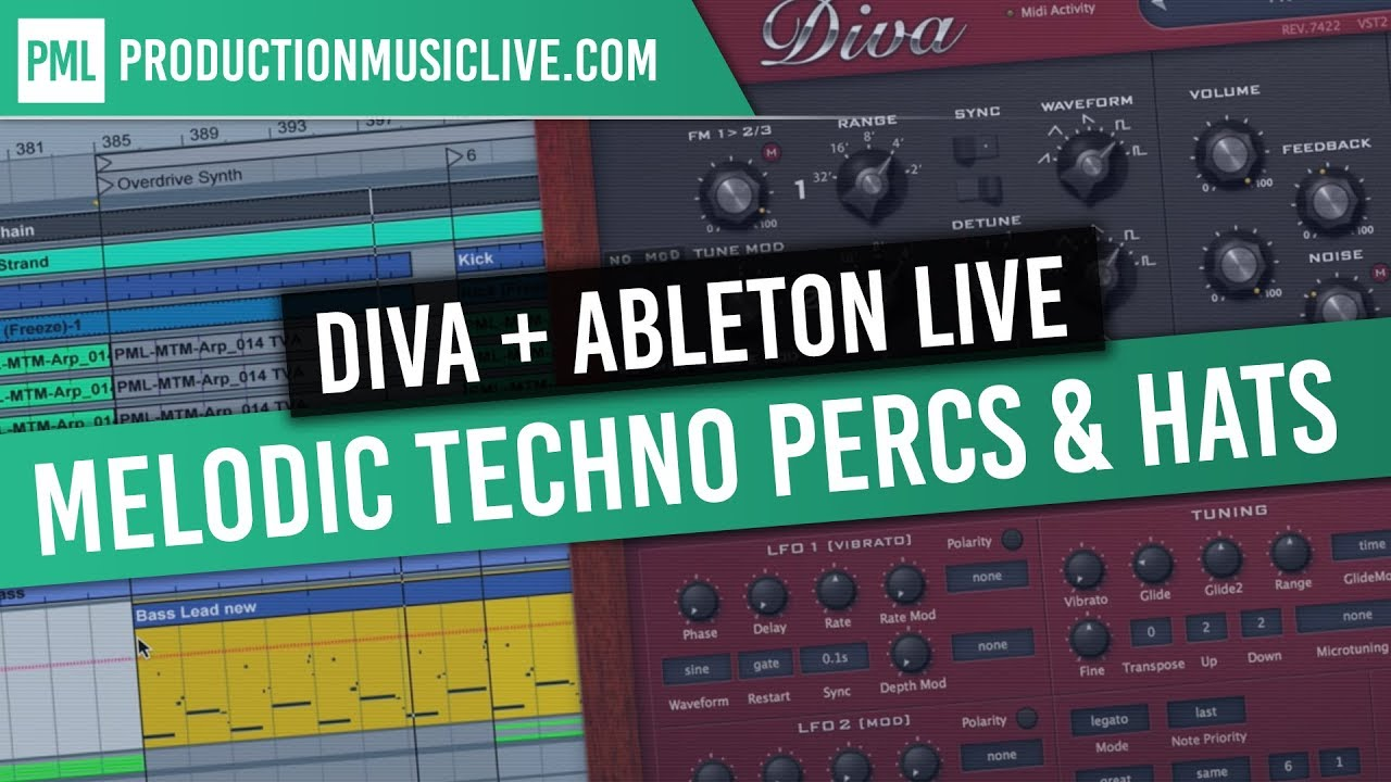 Melodic Techno with Diva in Ableton Live / Percussions