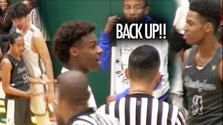 Bronny James HEATED GAME! Sierra Canyon Seniors STEP UP And Fight To Win At Damien Classic