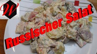 Russischer Salat einfach und schnell // 4K Video //